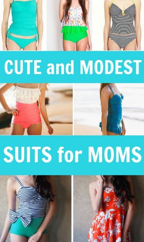 Super Cute and Modest Bathing Suits for Moms