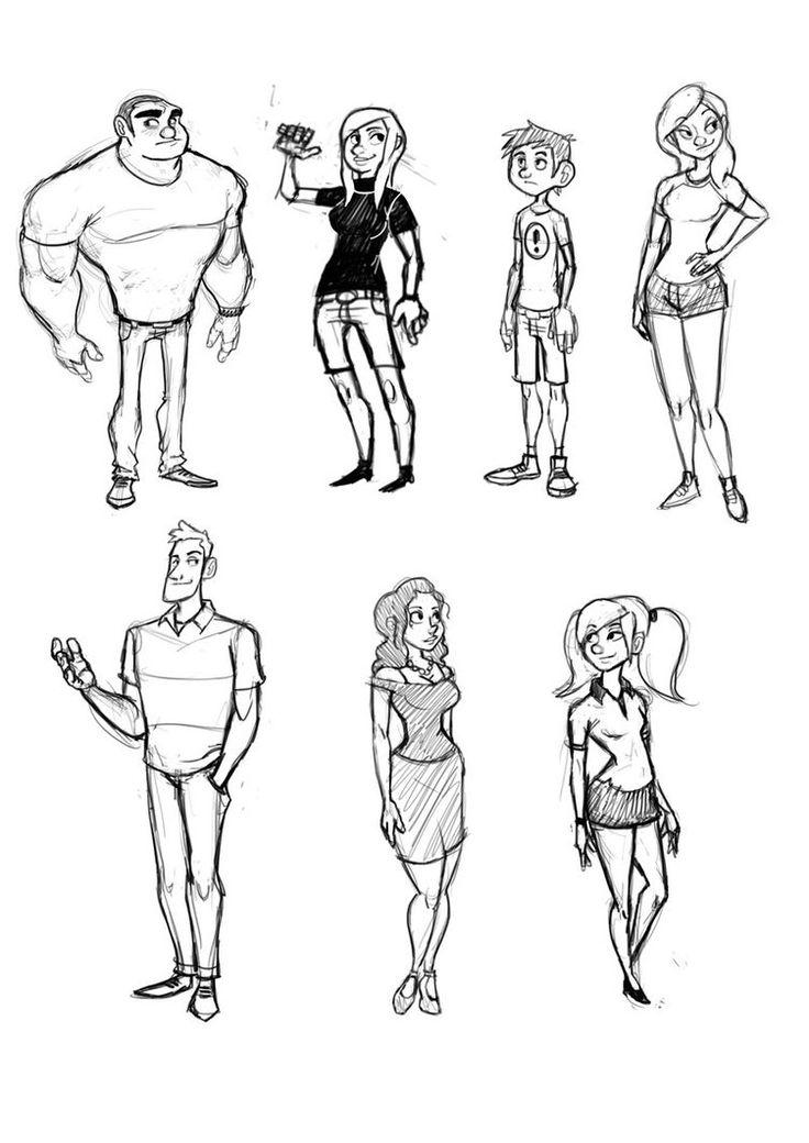 Character Design Shape Challenge : Best images about luigil luigi lucarelli on pinterest