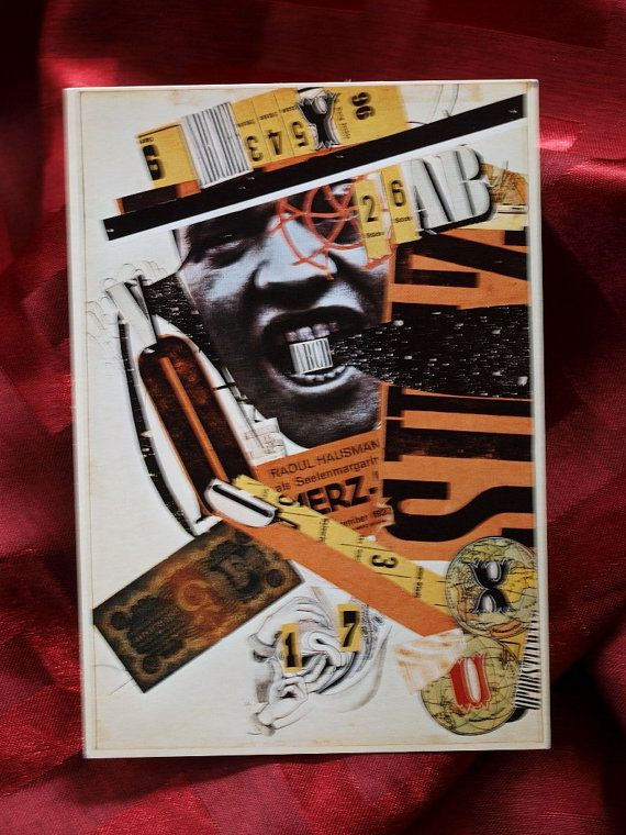 Postcard Raoul Hausmann Dada Photomontage Berlin  A by culPOPture