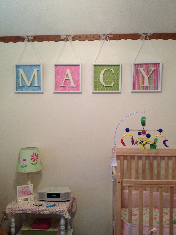 Scrapbook Paper Shadow Box Frames And Wood Letters Made