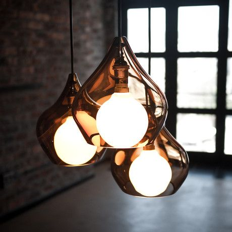 """The Vonk Lamp is lighting with versatile decor options. Draw attention to your minimalist space with a single large Vonk, infuse a room with energy by clustering many small Vonks or go crazy and create your own light art installation by mixing and matching both sizes. Each hand blown glass Vonk is a work of art waiting to grace your space."""