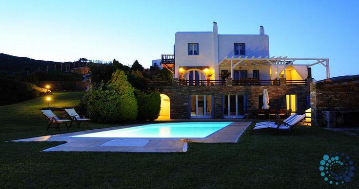 "Welcome to the ""Villa Elias"" in Andros, Greece. Your #luxury #villa #rent #greece #greek #island #vacances #grece #mygreekvilla #alouer"