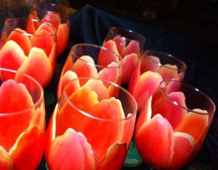 Sunset Tulip Wine Glass