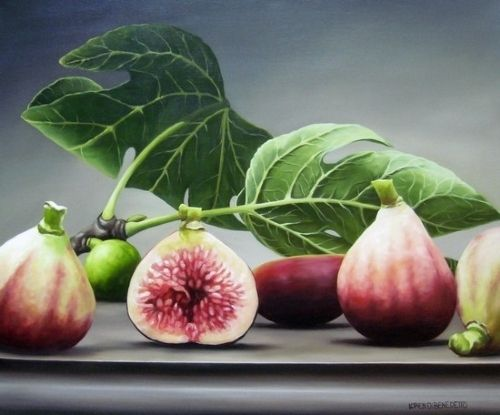 figs and leaves by Loren DiBenedetto Oil ~ 20 x 24