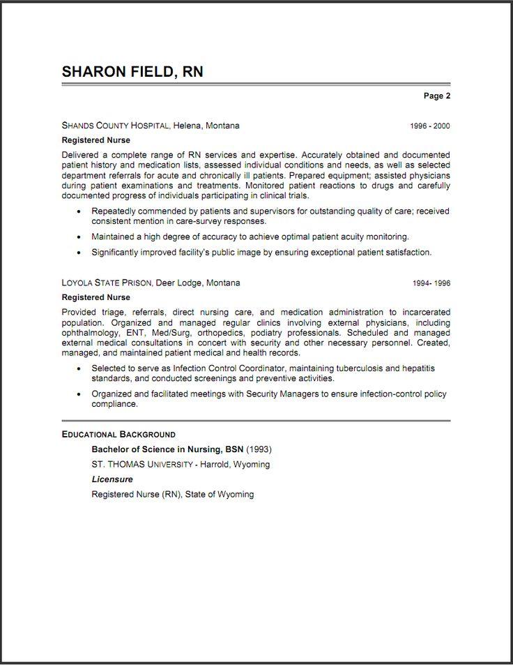 new grad rn resume examples