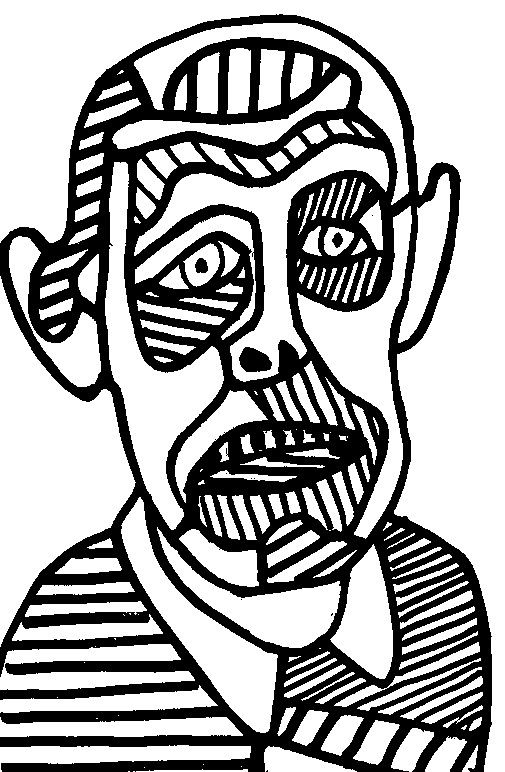 17 best images about coloriages adultes jean dubuffet on - Coloriage picasso ...