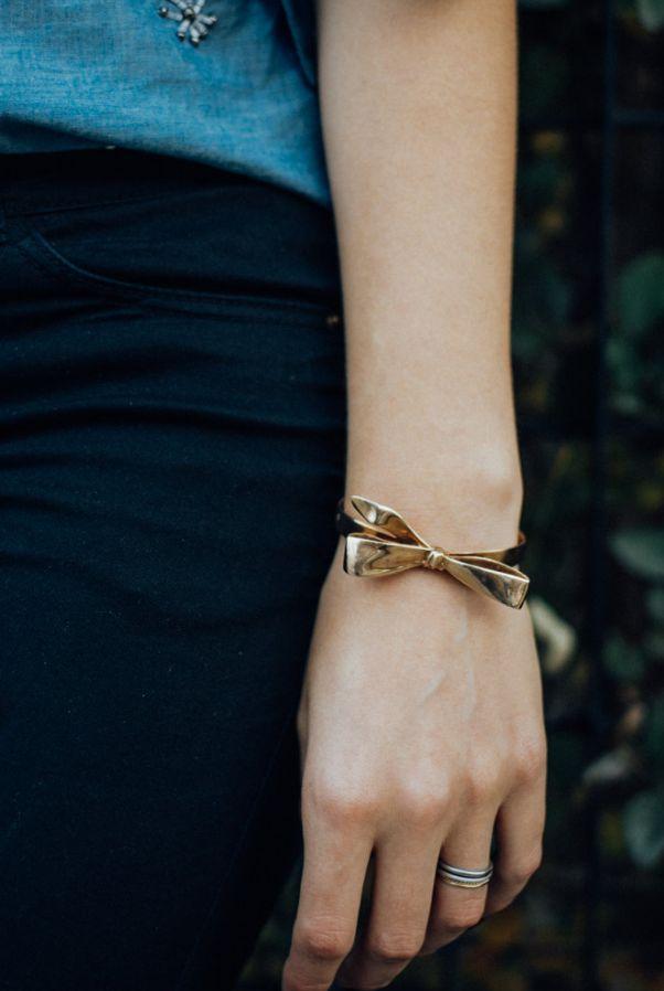 Knotted Bow Bracelet | Etsy