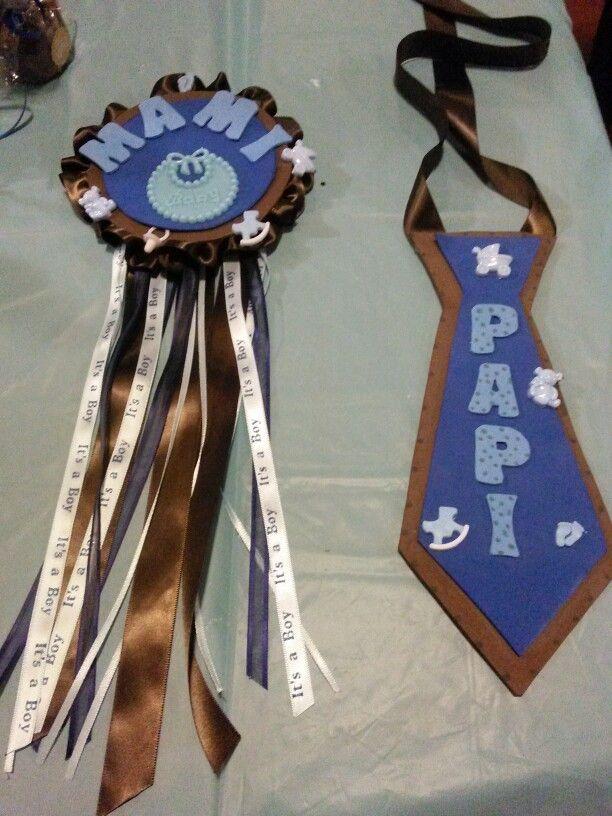 distintivos para mama y papa mom and dad corsages
