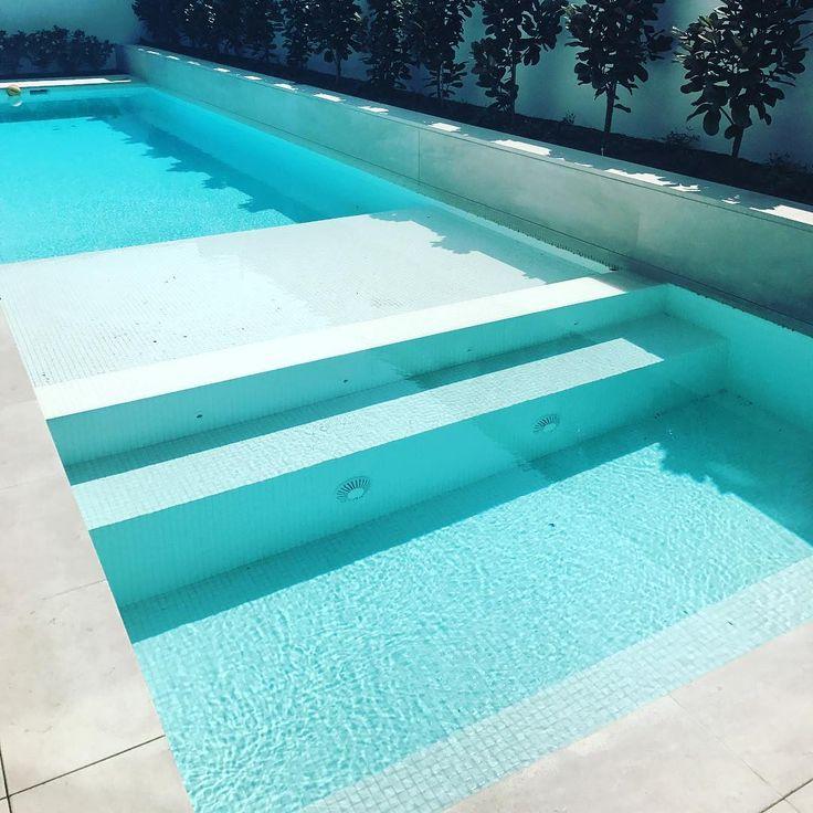 Amber Tiles Kellyville: White pool mosaic #poolinspiration #whitemosaic #mosaic #ambertiles #fullytiledpool #ambertiles #ambertileskellyville