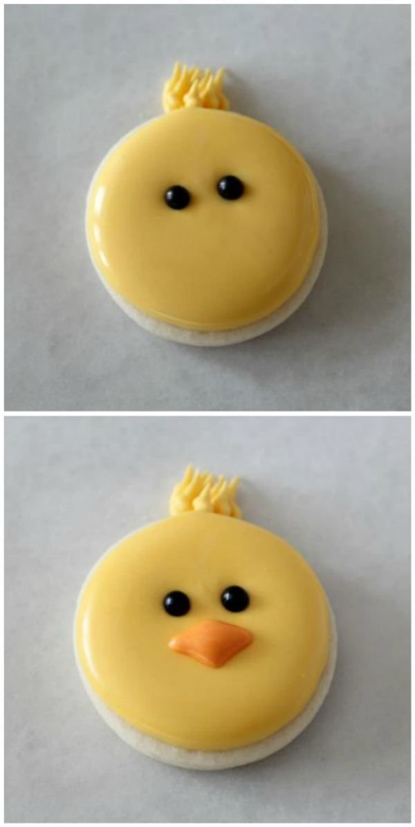 How to  make cute chick cookies
