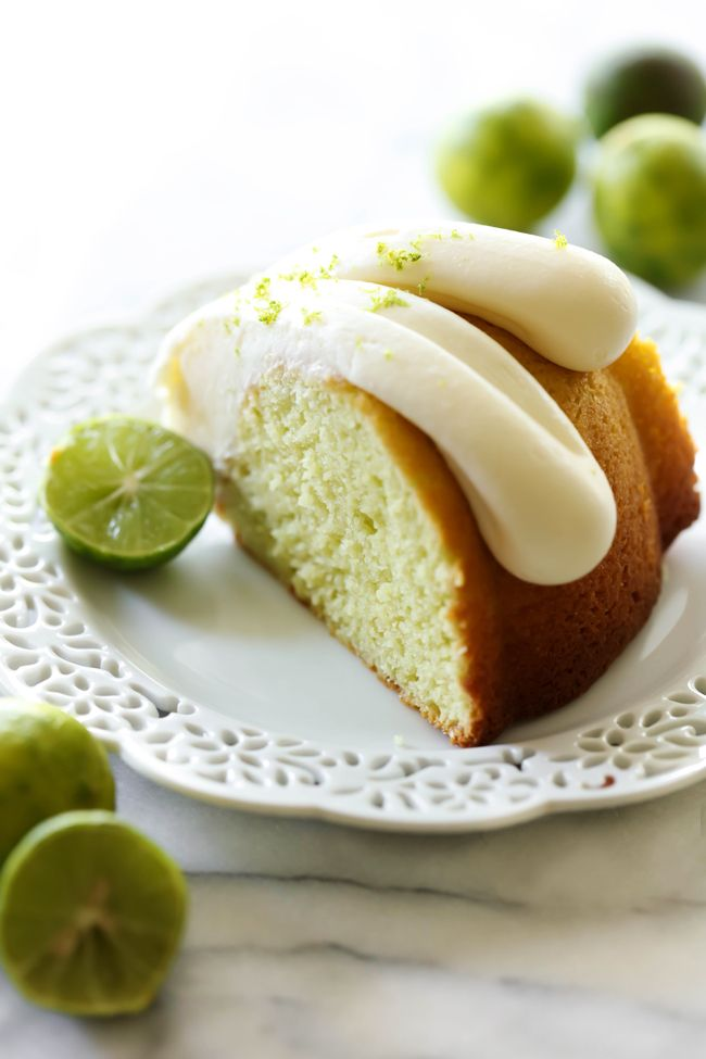 This Key Lime Pie Bundt Cake has such a light, zesty and refreshing flavor! It is super moist and the cream cheese frosting on top is the perfect finishing touch!