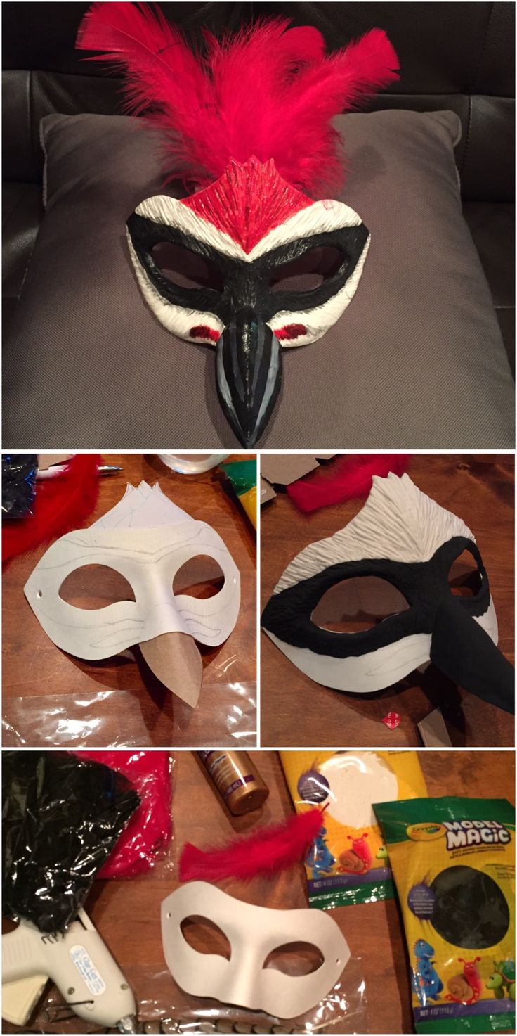 masquerade mask! animal themed woodpecker, under $20! Easy diy, fancy elegant
