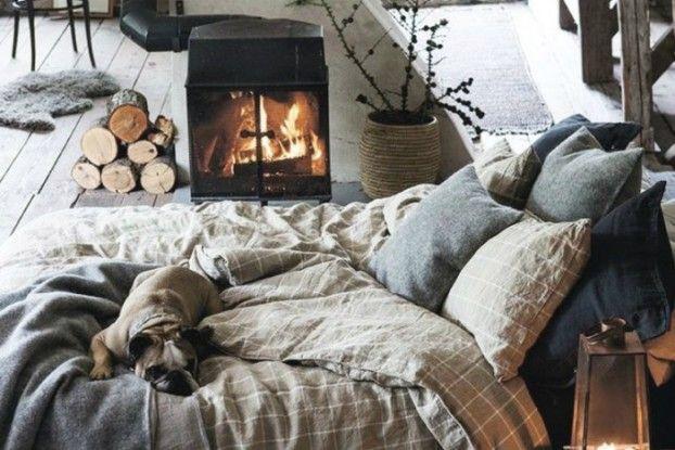 beautiful bedroom with Linen Bedding