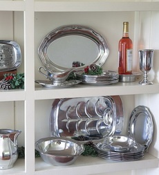 Perfect for the Holiday table.  wilton-armetale-inc.-queen-anne-design-recycled-aluminum-dinner-and-serveware