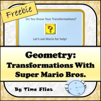 Use this as a quick review of geometric transformations. Use with my Geometry Transformation lesson. See link below:Geometry: Transformations*******************Don't forget to follow me!