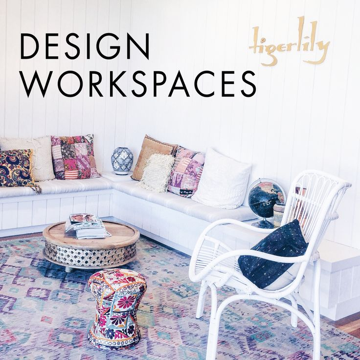 Design workspace - Inside Tigerlily Swimwear's bohemian inspired beautiful design studio office | Click link to read the design blog