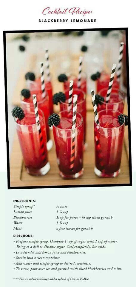 drinks! - splash of red for B&W theme