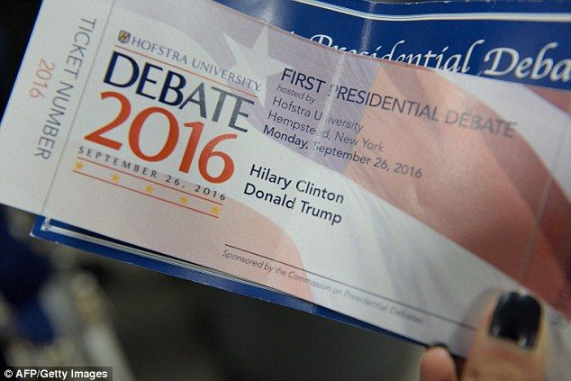 Souvenir tickets for Monday's presidential debate at Hofstra University in Hempstead, New York had Hillary Clinton's name spelled with one 'l' instead of two (pictured)
