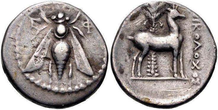Ephesos 202-150 BC Silver drachm,