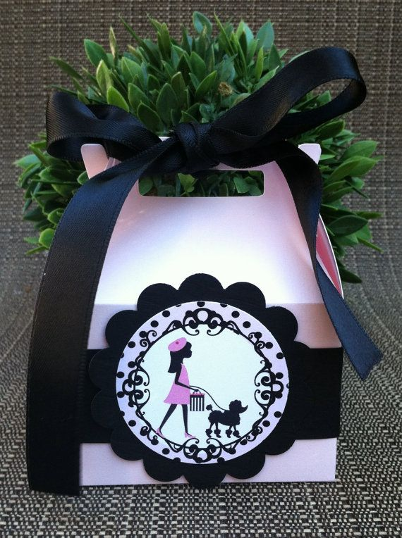 Ooh La La Paris Party Favor Boxes Set of by KristinesCreationsSD, $24.00