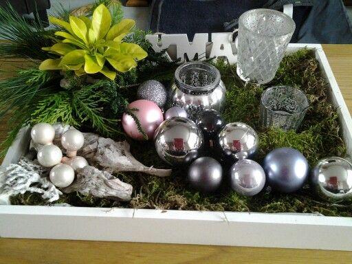 Kerstcreatie voor op tafel