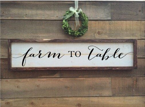 A personal favorite from my Etsy shop https://www.etsy.com/listing/484560139/farm-to-table-sign-farmers-market-sign