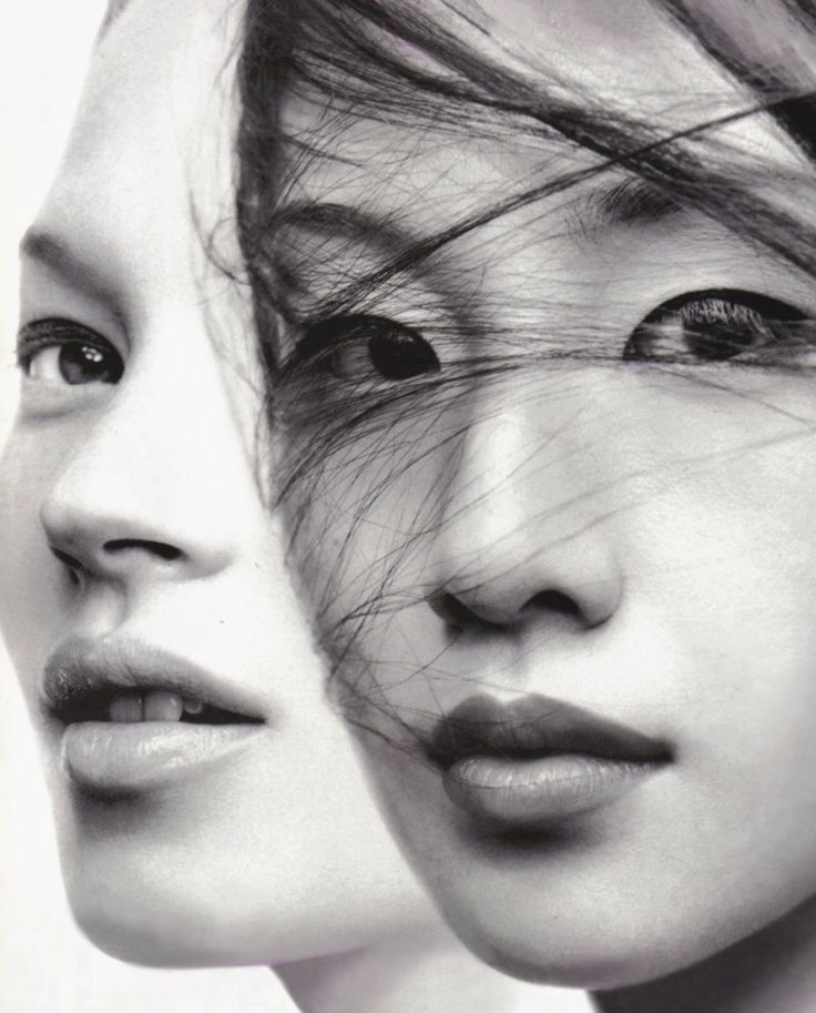 Kate Moss and Miki by Craig McDean for Vogue Japan September 1999