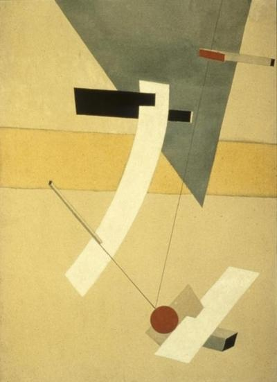 Proun 12e - El Lissitzky, 1923    an artist paints what he knows is there, not what he sees.