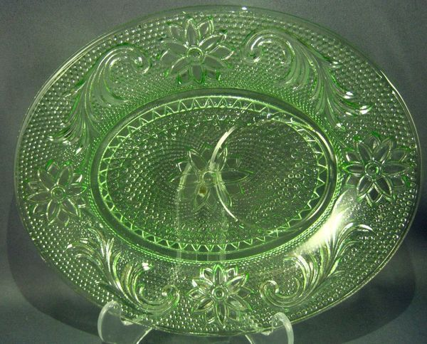 226 best depression glass green images on pinterest