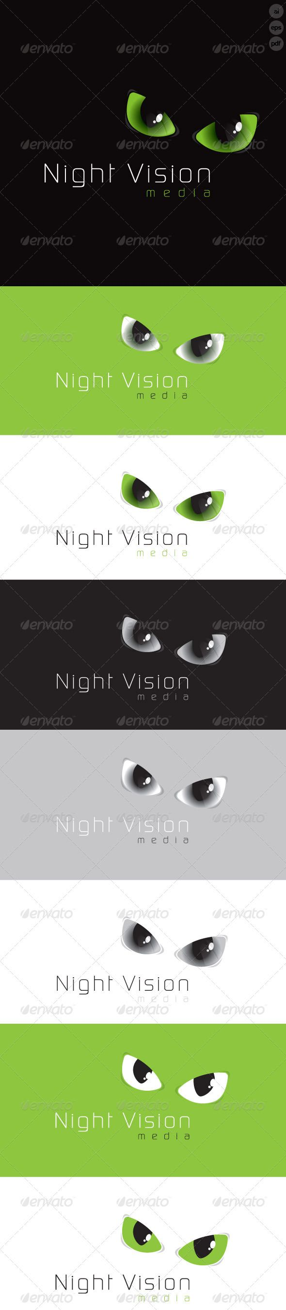Just love the creepy vibe this is giving out! Weird, right? Night Vision Media Logo is a designed for any company that has a bit of an edge, this logo adds a bit of mystery but still remains very classy. The final files include multiple variations of the Logo. #eyes #night #vision #media #logo #design
