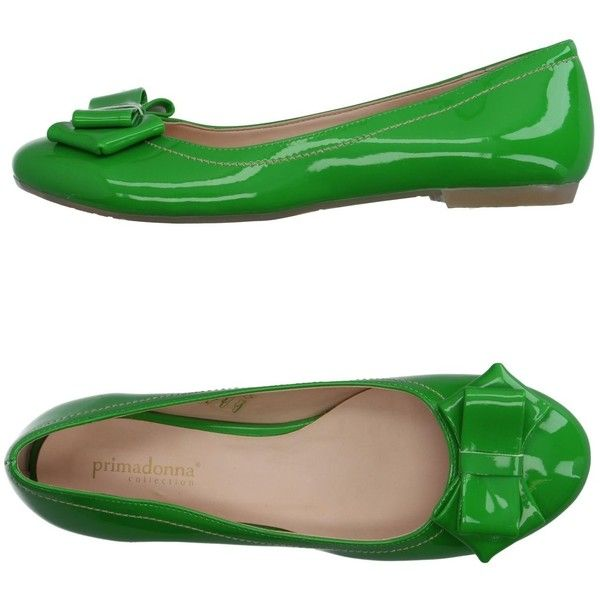 Primadonna Ballet Flats ($33) ❤ liked on Polyvore featuring shoes, flats, light green, skimmer shoes, ballerina shoes, ballet shoes flats, round toe flats and ballet flat shoes