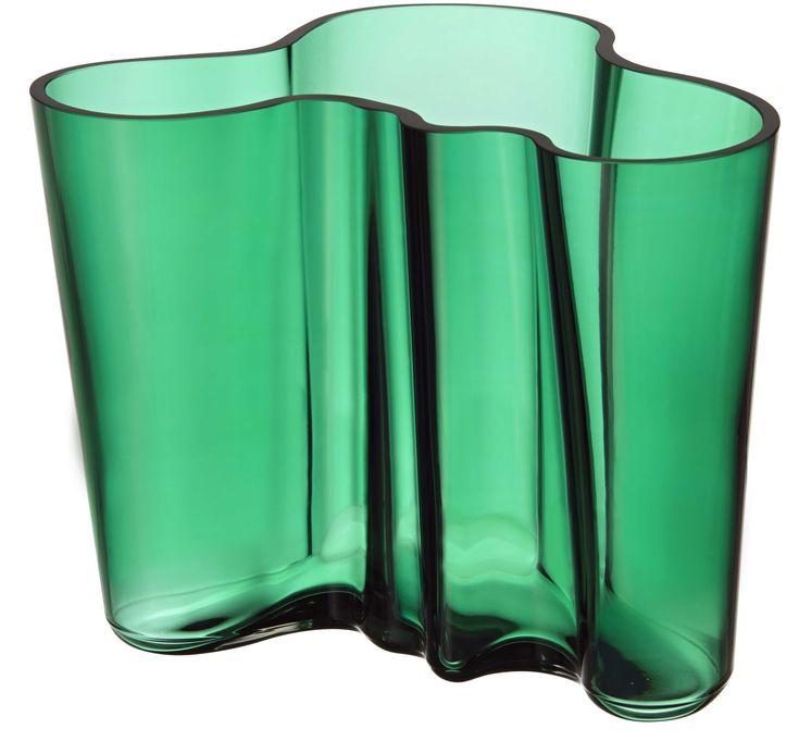 Iittala: Aaltovaasi smaragdinvihreä