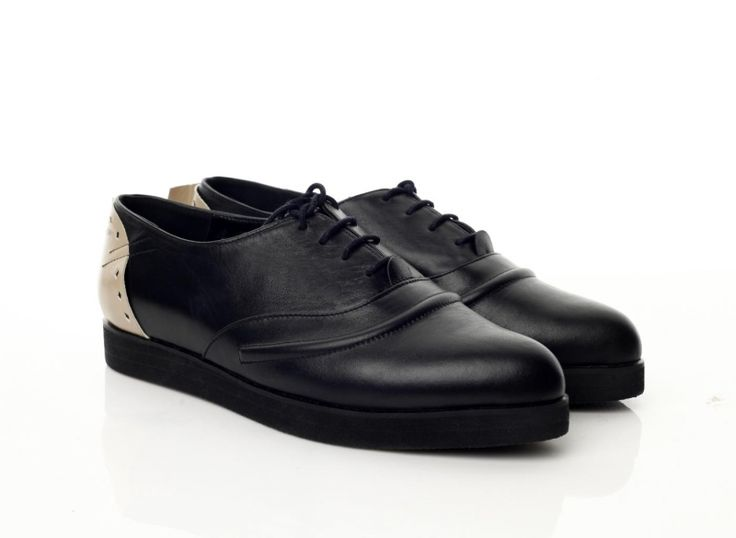 Pantofi piele neagra