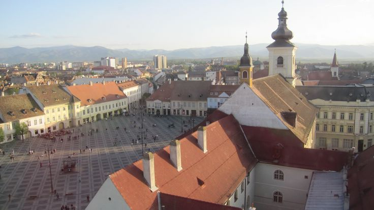 Sibiu in Transylvania, view from the top of the Council Tower