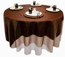 Great place to buy tablecloths, chair sashes, and overlays - lots of colors available