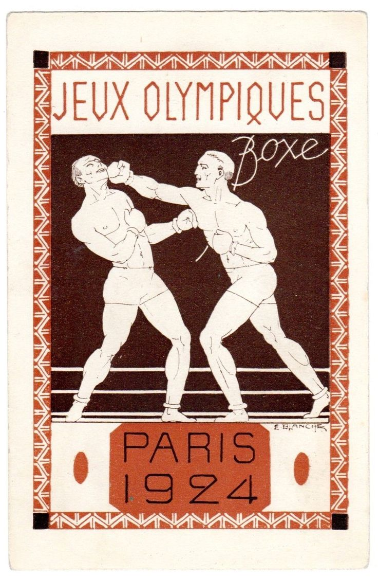 Postcard French 1924 Paris Olympics Boxing Signed E Blanche | eBay