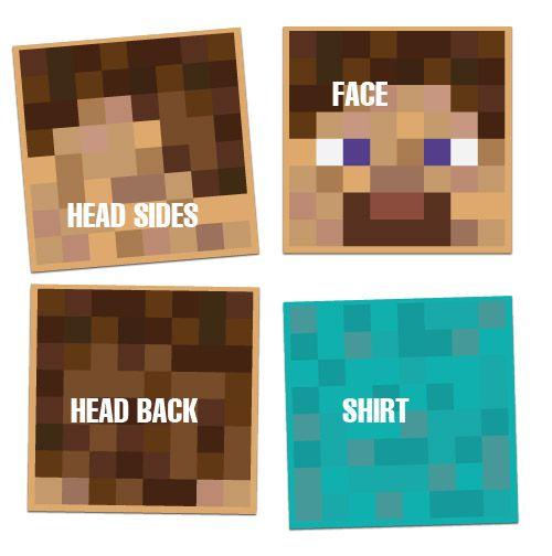 Steve Halloween Heads Minecraft Costumes
