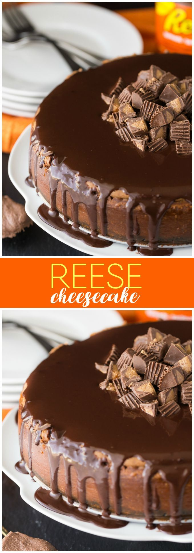 Reese Cheesecake - So creamy, smooth and full of delicious chocolate peanut butter flavour! Each bite is a little bit of cheesecake heaven. #DoYouSpoon #ad