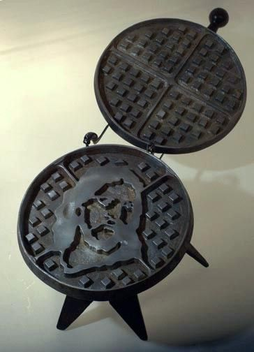 Jesus waffle maker by FeLionStudios on Etsy, $500.00 a LOT to be