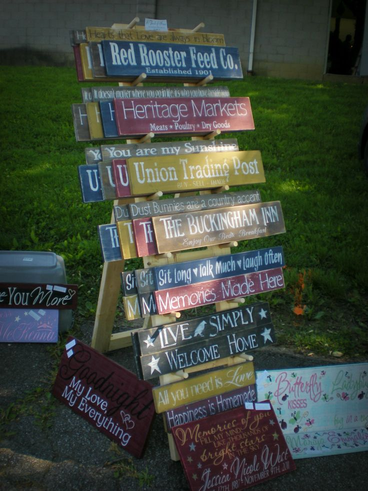 My first craft show it 39 s not just a hobby pinterest for How to display wood signs at craft show