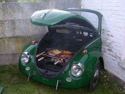 Churrasqueira de fusca.: Vwbug, Vw Beetles, Vw Bugs, Bbq Grilled, Backyard, Gardens Features, Old Cars, Barbecue, Volkswagen