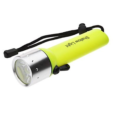 sa-819 vandtæt 1-mode Cree XR-e Q5 dykning LED lommelygte sæt (200lm, 4xAA, gul)