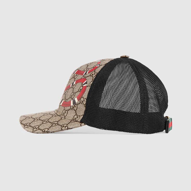 GUCCI Kingsnake print GG Supreme baseball hat - Kingsnake print. #gucci #