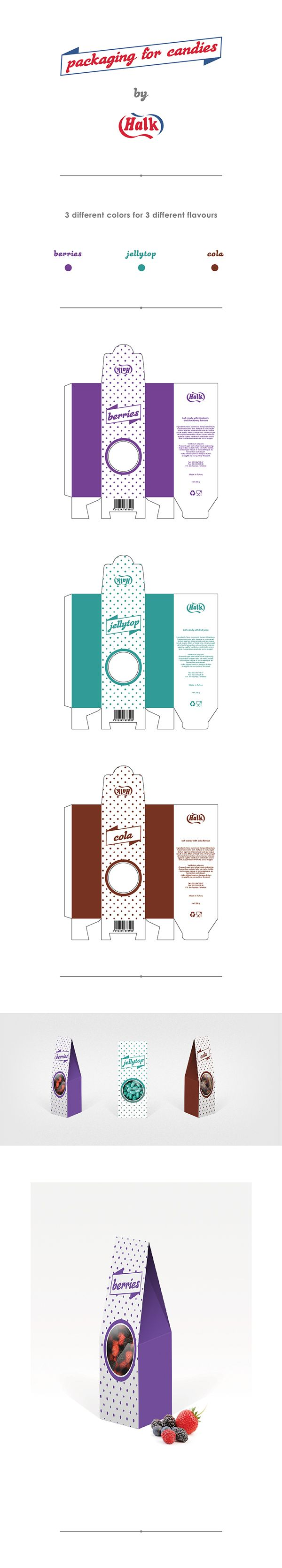 Packaging for candies by Badreddine Biada, via Behance