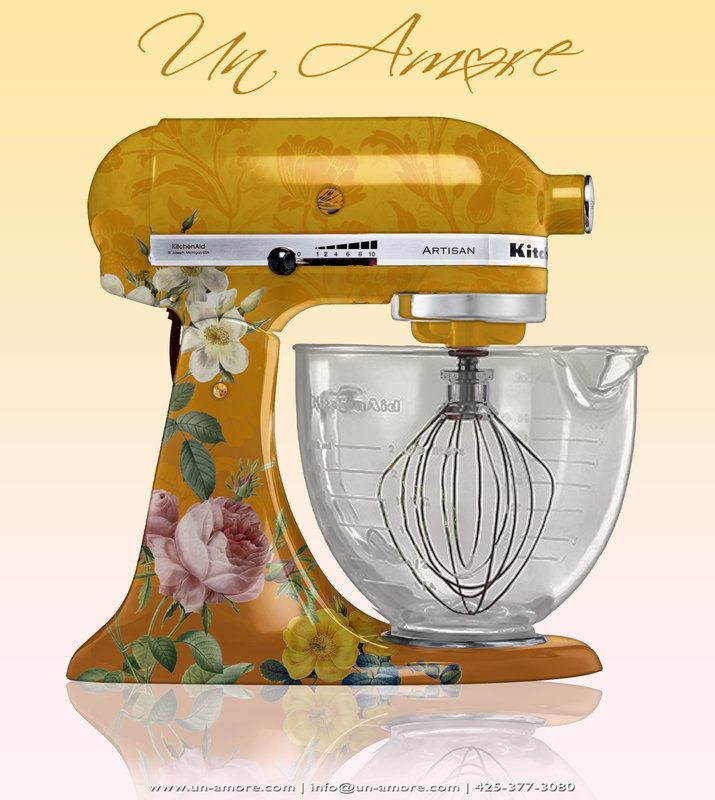 Kitchenaid Mixer Floral Decals ~ Best images about cool kitchenaid mixers on pinterest