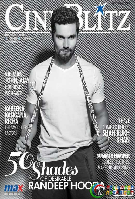 RUGGEDLY HANDSOME RANDEEP HOODA ON THE COVER OF CINE BLITZ  #RandeepHooda #BOLLYWOODNAZAR