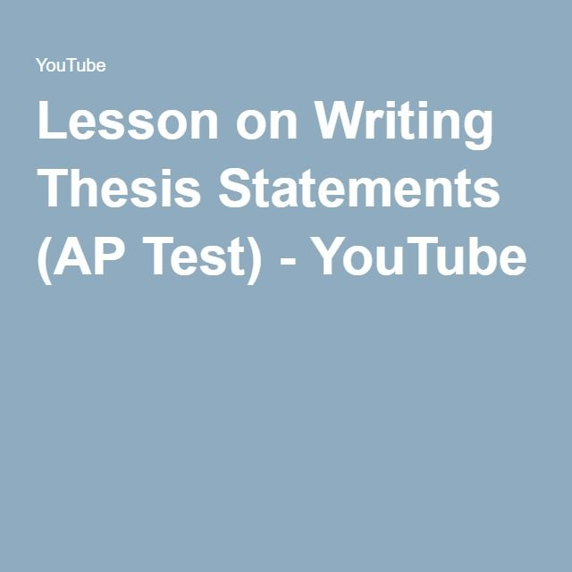 Writing a thesis for AP Exam?