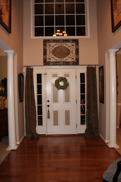 Foyer Window Designs : An option for curtains over those windows next to the