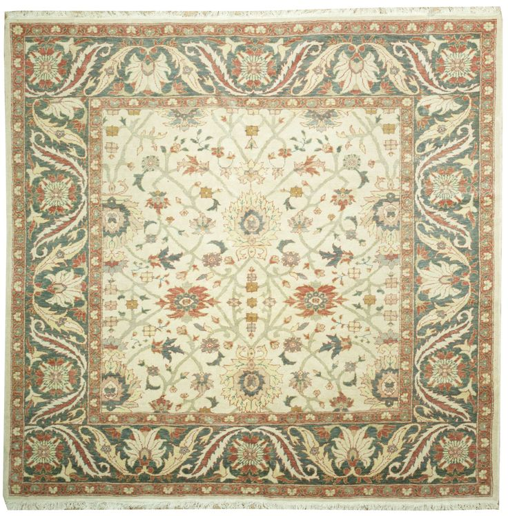 This Beautiful Handmade Knotted Square Rug Is Approximately 8 X 8 New  Contemporary Area Rug From