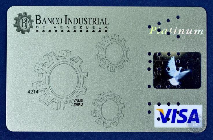 Specimen Credit Card Banco Industrial De Venezuela VISA PLATINUM